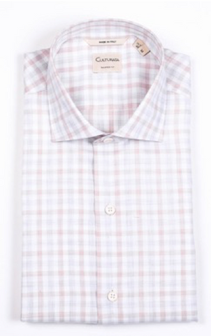 Natural Comfort Super Soft Gingham Shirt- Brown