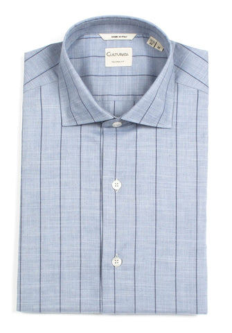 Italian Plaid - Aqua/Navy