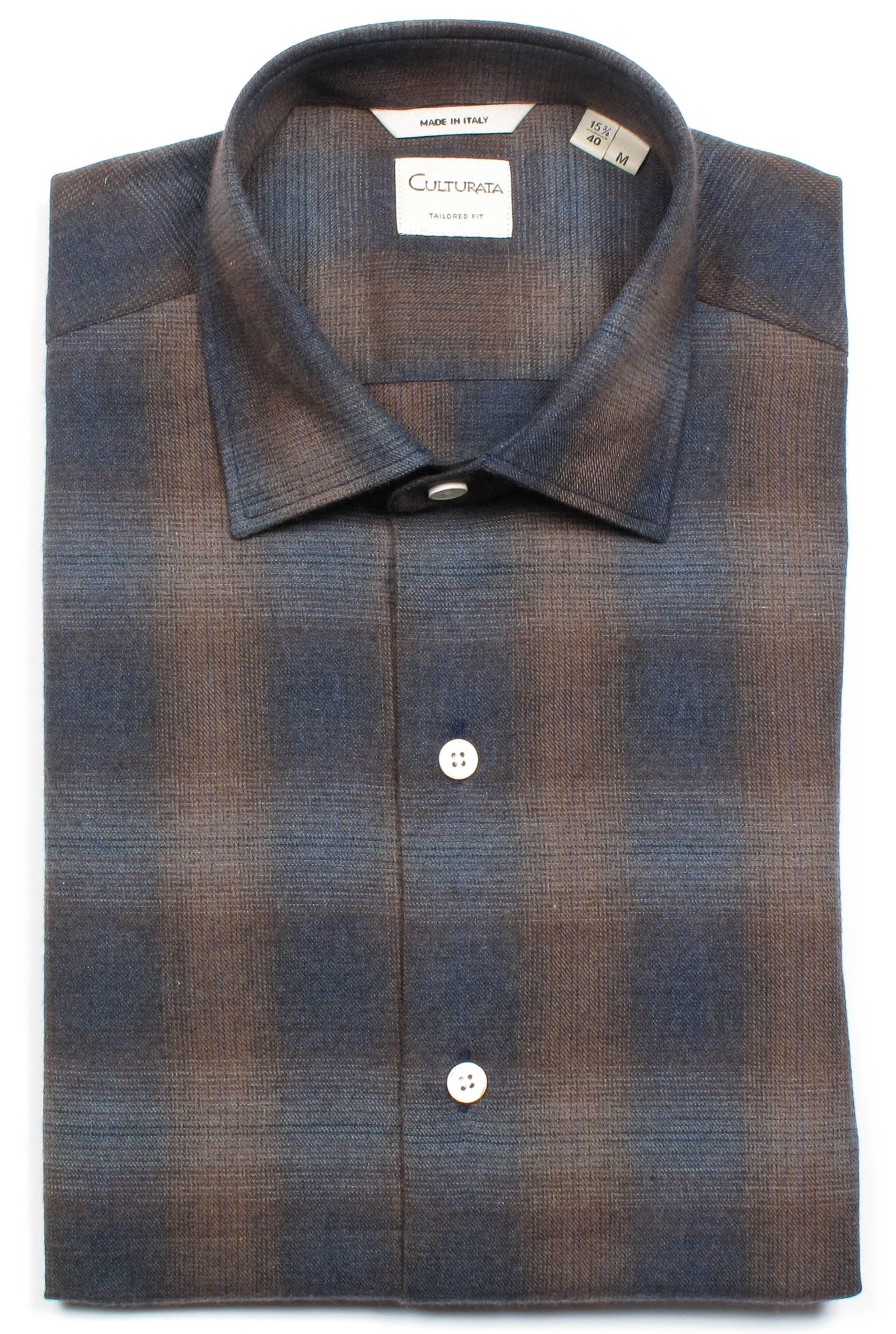 Softest Italian Plaid Flannel - Brown