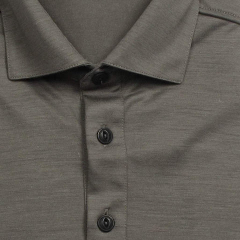 Italian Wool Long Sleeve Polo - Green