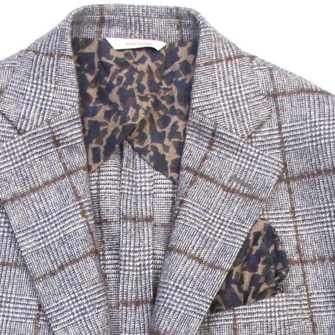Italian Glenplaid Jacket - Grey