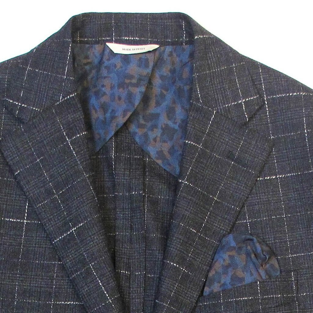 Italian Glenplaid Jacket - Navy