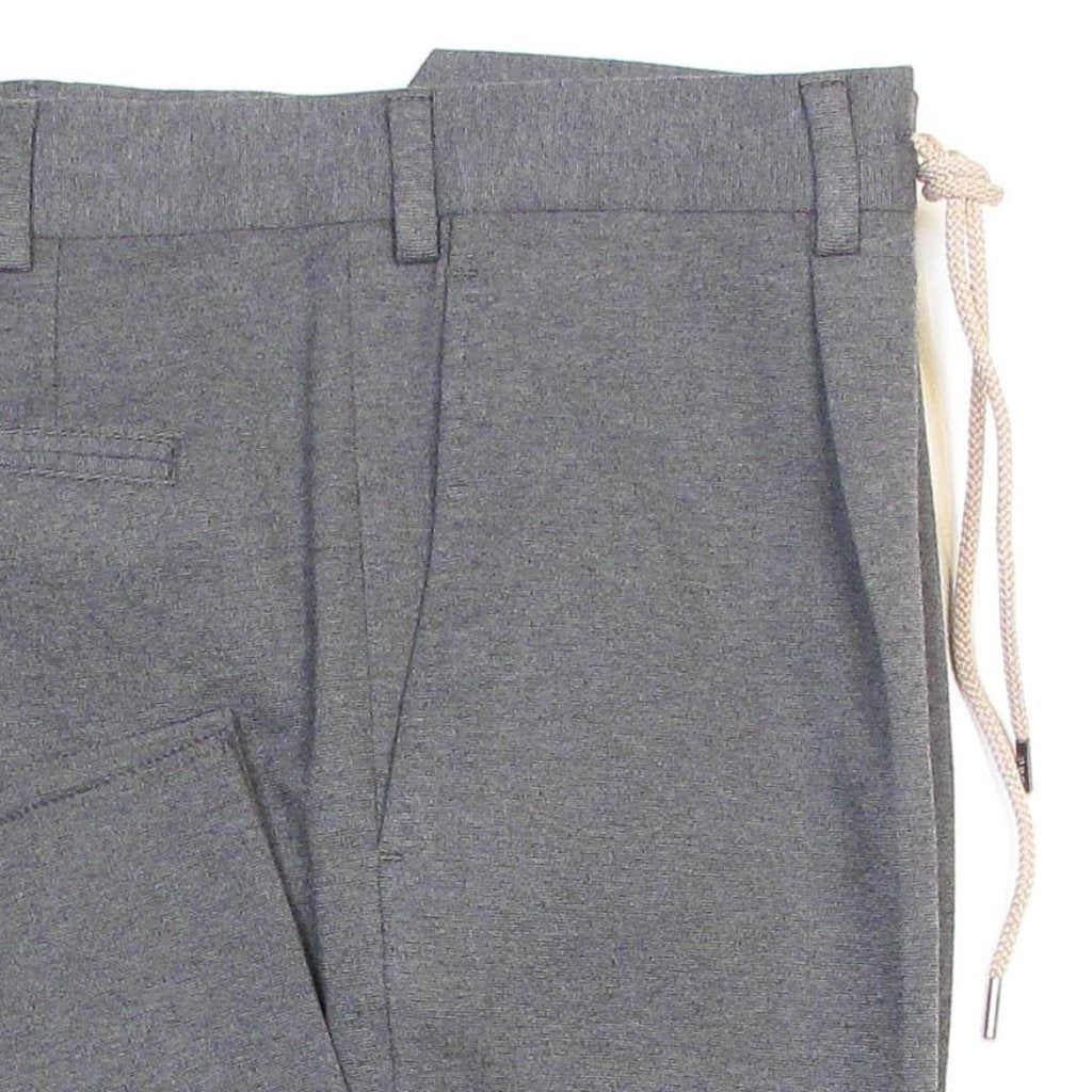 Drawstring Stretch Knit Pant - Grey