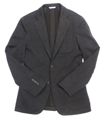 Jersey Blazer - Charcoal/Brown