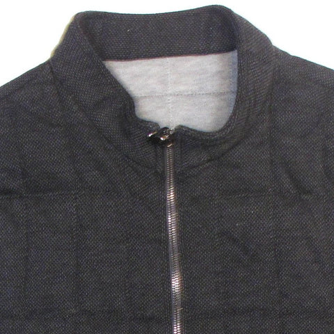 Cashmere & Cotton Quilted Vest - Charcoal