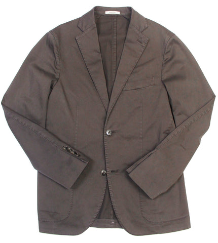 Stretch Cotton Blazer - Brown