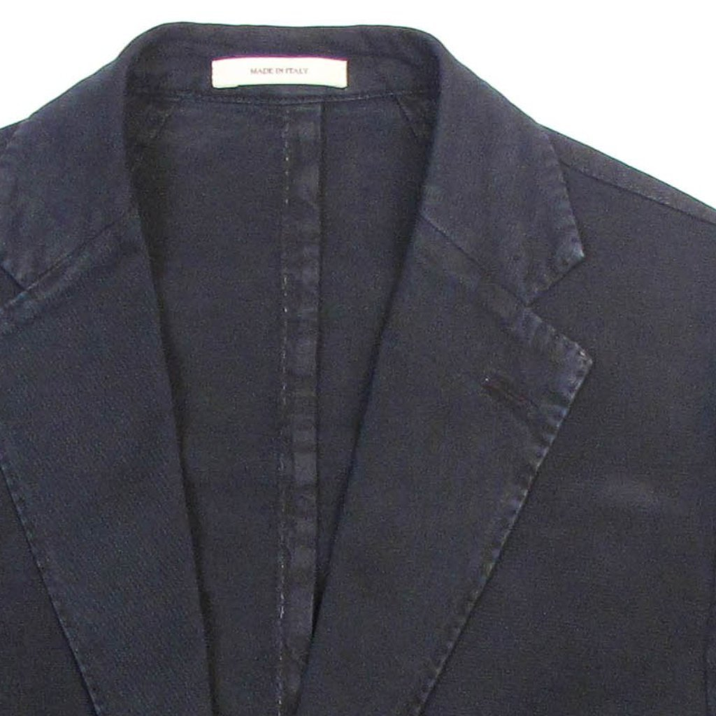 Garment Washed Solid Jacket - Navy