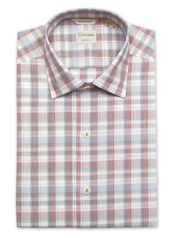 Soft Plaid Shirt - Dusty Red