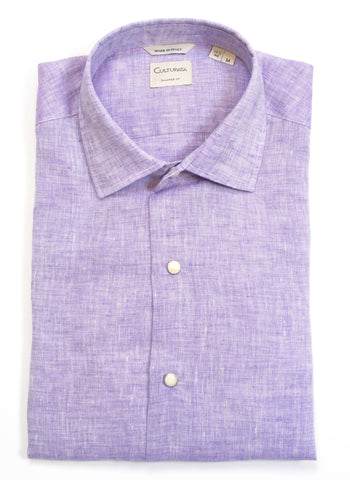 Soft Washed Linen Shirt - Lilac