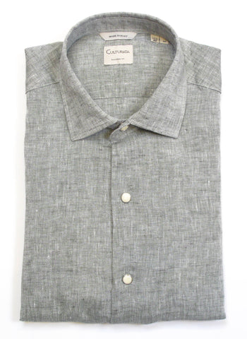 Soft Washed Linen Shirt - Green