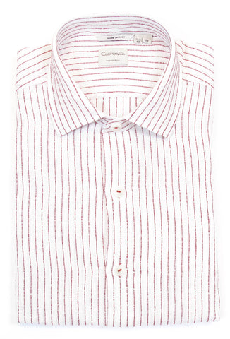 Soft Washed Stripe Shirt - Red