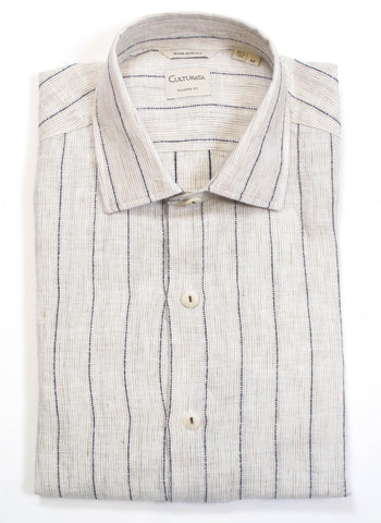 Washed Textured Stripe Shirt