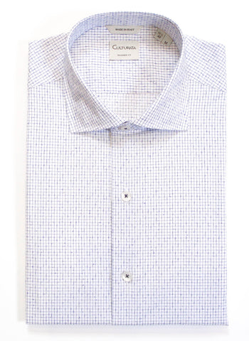Textured Check Shirt - White