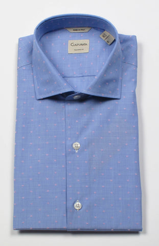 Soft Cotton Shirt With Dobby Dot