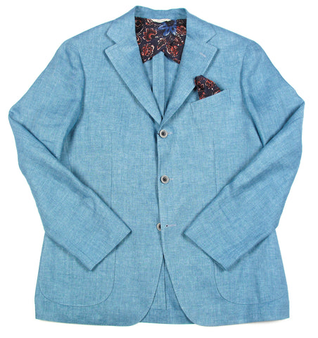 Tailored Washed Linen Jacket
