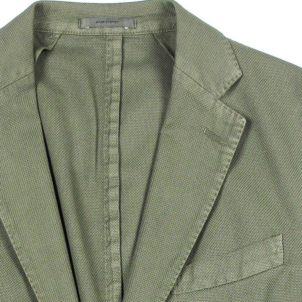 Italian Cotton Blazer - Green