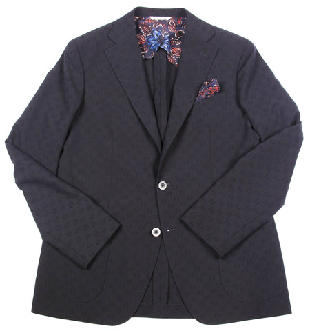 Tailored 2 Button Textured Jacket