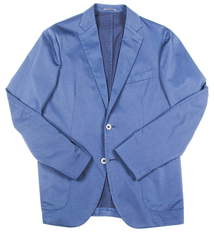 2 Button Textured Jacket - Navy