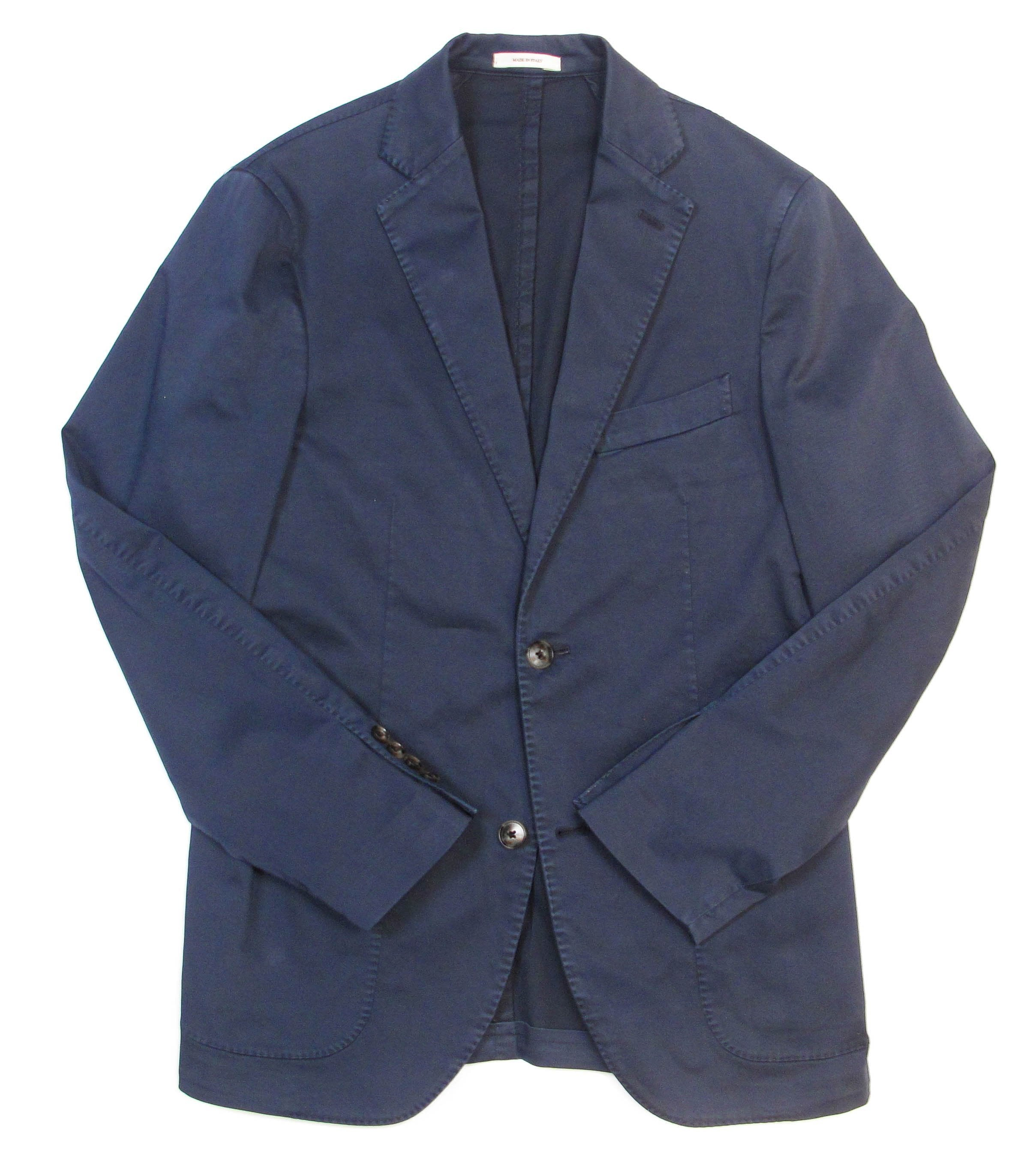 Stretch Cotton Blazer - Navy
