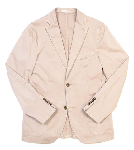 Stretch Cotton Blazer - Tan
