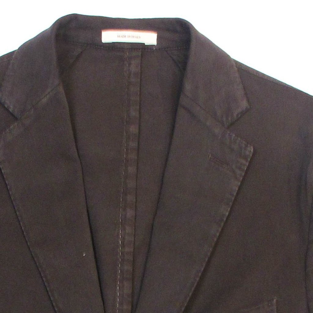 Italian Washed Cotton Jacket - Brown