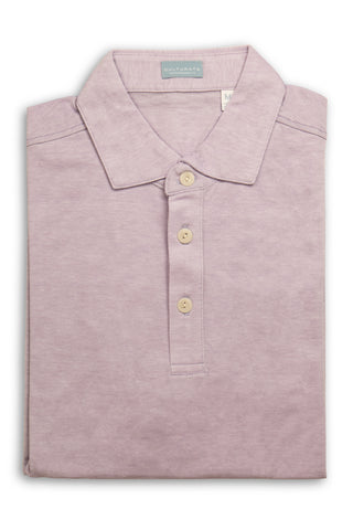 Soft Cotton Short Sleeve Polo - Heather Blue