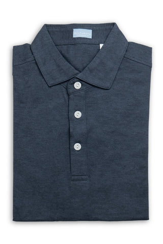 Soft Cotton Short Sleeve Polo - Midnight Blue