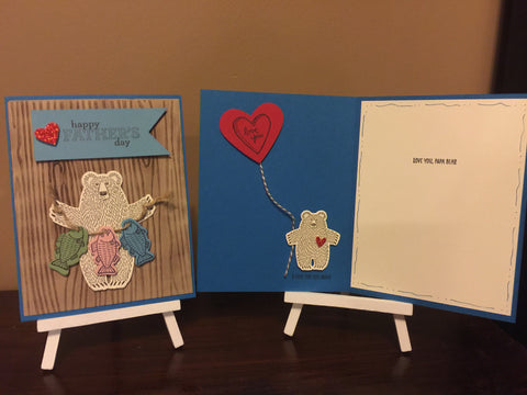 Father's Day Bear Card
