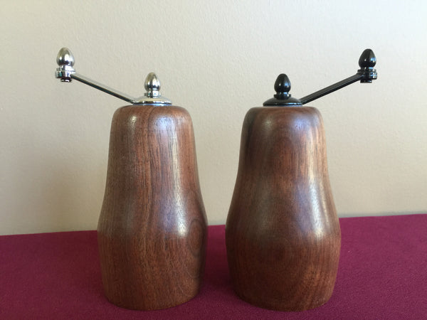 Pear Shaped Salt and Pepper Grinders