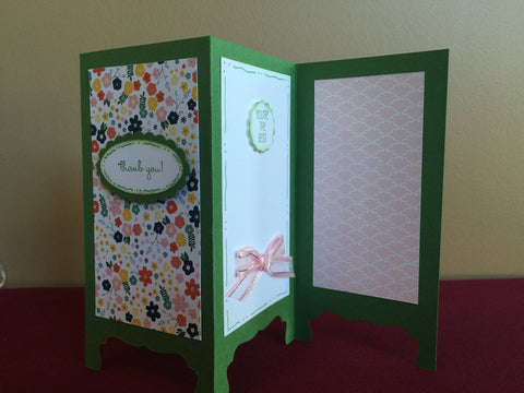 Easel Thank You Greeting Card