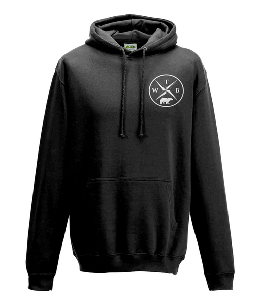 Men's Compass Hoodie Chest Logo Black