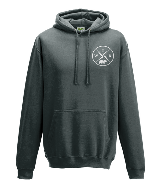 Men's Compass Hoodie Chest Logo Grey