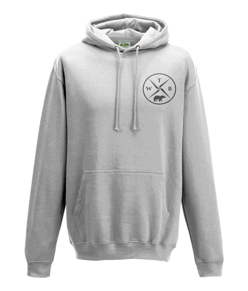 Men's Compass Hoodie Chest Logo White