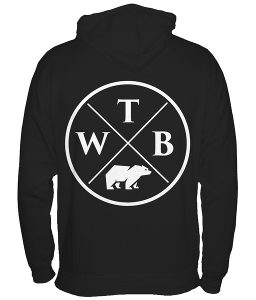 Women's Cross Hoodie Black