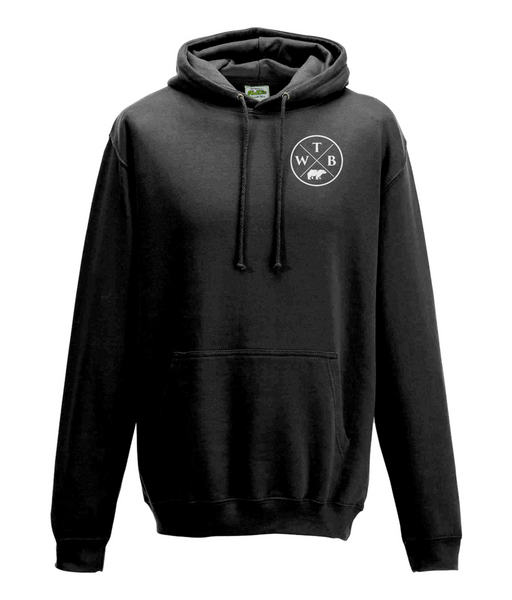 Men's Cross Hoodie Chest Logo Black