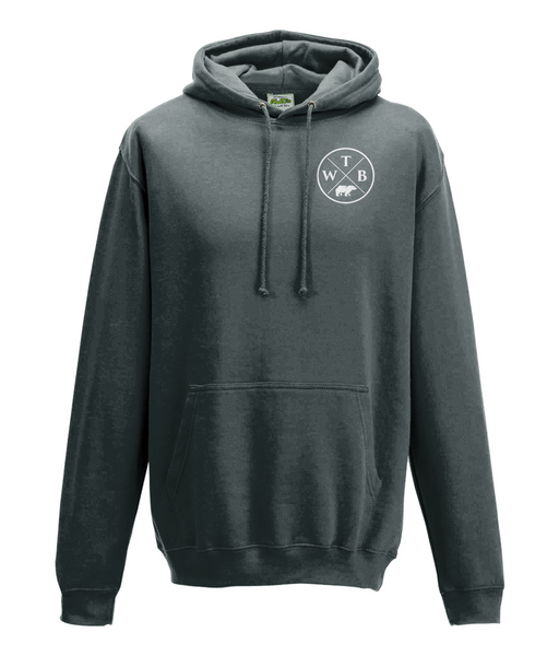 Men's Cross Hoodie Chest Logo Grey