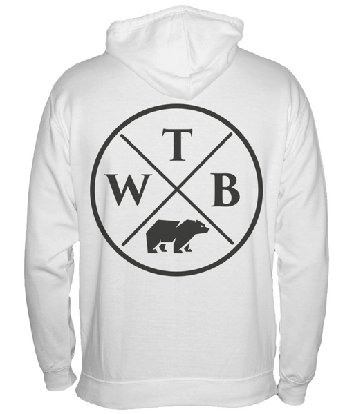 Men's Cross Hoodie White
