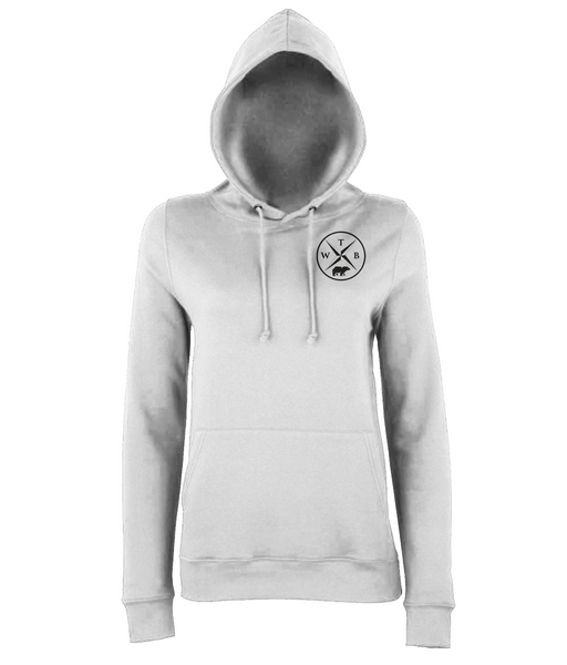 Women's Compass Hoodie Chest Logo White