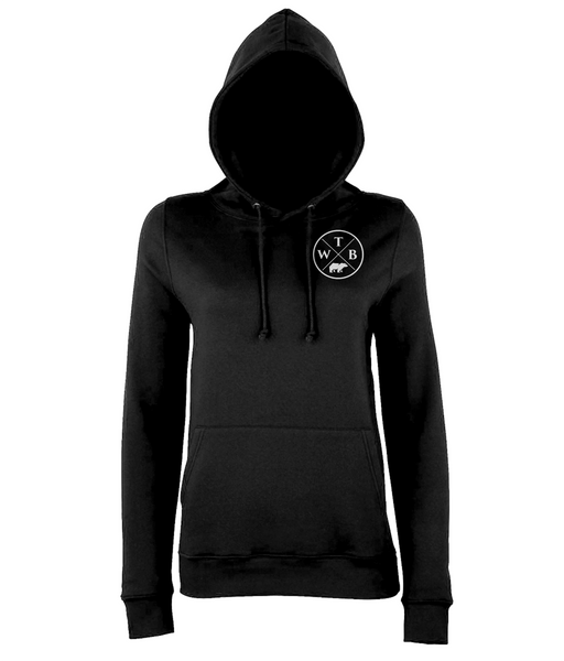 Women's Cross Hoodie Chest Logo Black
