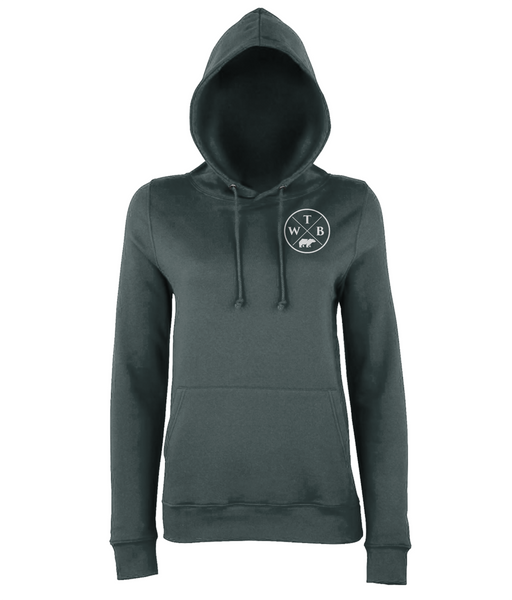 Women's Cross Hoodie Chest Logo Grey
