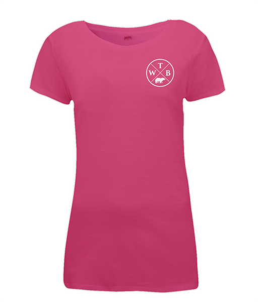 Women's Cross T Shirt Pink