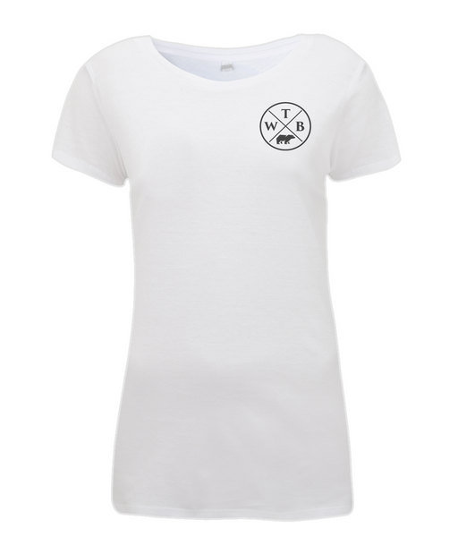 Women's Cross T Shirt White