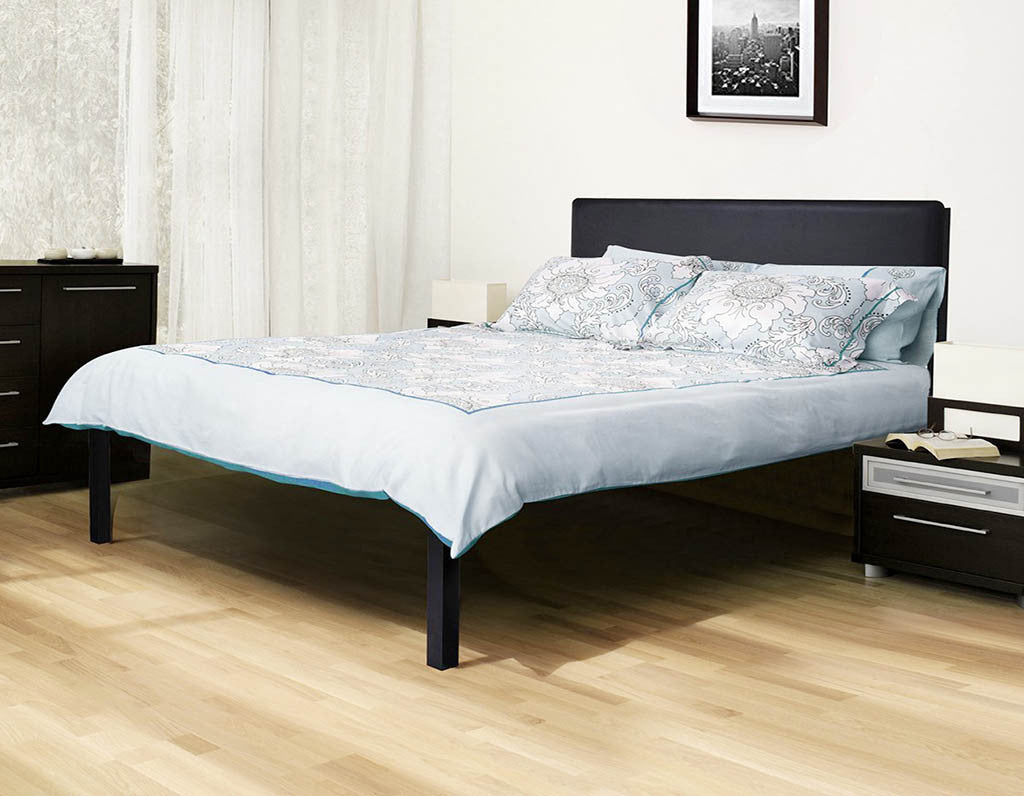 heavy duty bed frame with basic black headboard platform bed 4000hb