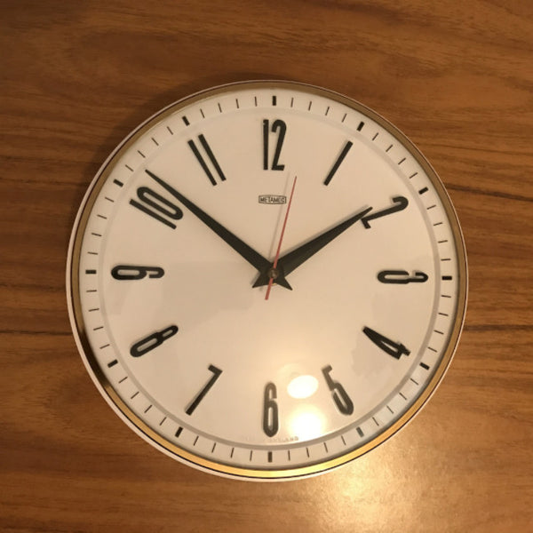 METAMEC Mid Century Modern Electric Wall Clock