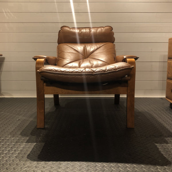 Bentwood Leather Recliner by LIED Møbler