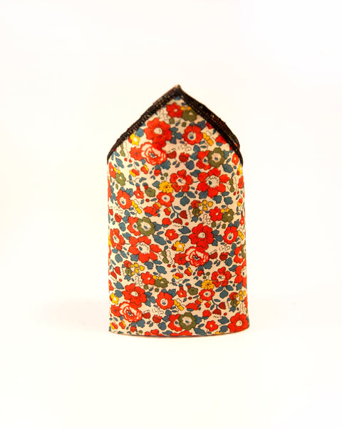 Pocket Square - Red Betsy Ann