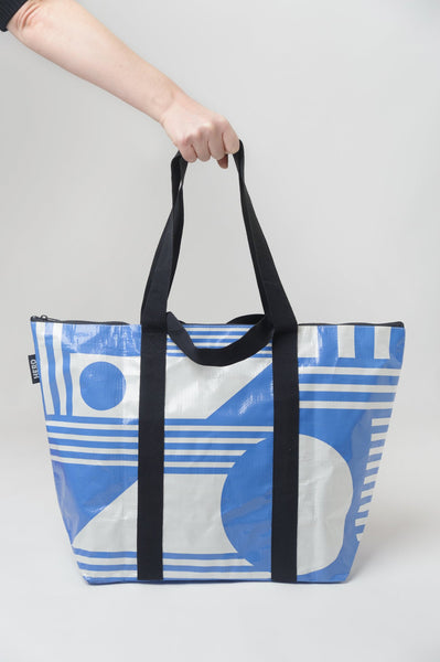 The Santorini zipped Tote Bag