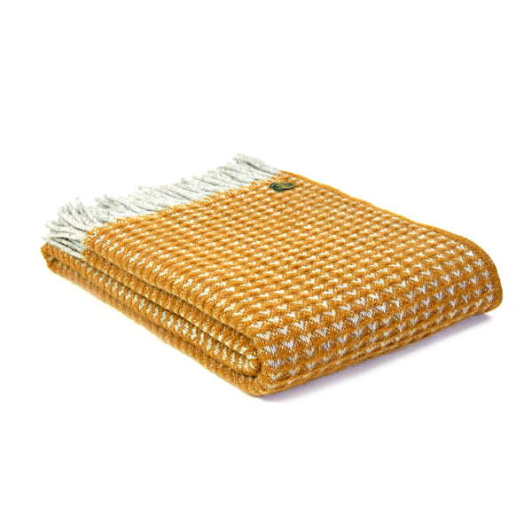 Wool Throw Treetops Mustard