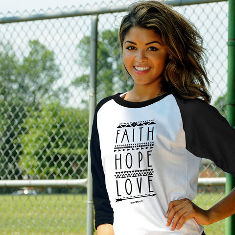 Grace & Truth Faith Hope Love Raglan T-shirt ™