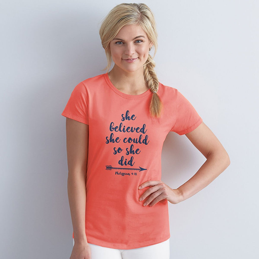 She Believed She Could Adult T-Shirt ™